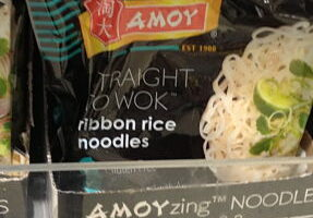 Amoy rice noodles – straight to wok