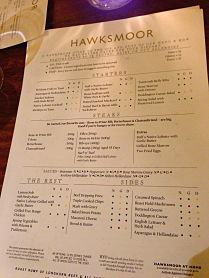 Hawksmoor Allergy Menu
