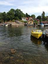 Vaxholm - water by cafe