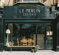 Le Merlin creperie, gluten free galettes