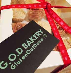 God Bakery cake with sign