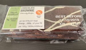 M&S made without wheat brownie