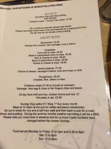 The Compass Inn menu B_opt