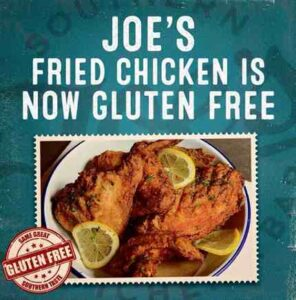 Joe's gluten free fried chicken