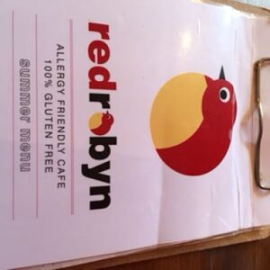 Red Robyn 100% gluten free menu
