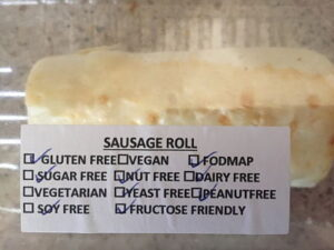 Sausage roll diary free fructose friendly