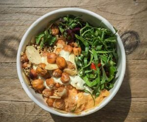 Pumpkin Brown morrocan buddha bowl