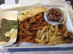 gluten free fish and chips Camberwell