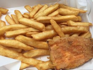 Gluten free fish and chips in Geelong