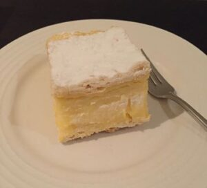 gluten free vanilla slice in Mornington