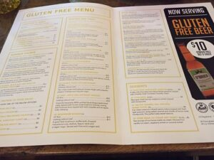 The Bank on Collins gluten free menu