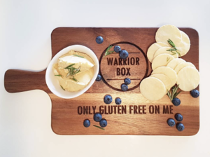 Warrior Box gluten free chopping board