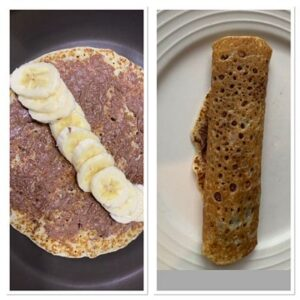 banana and nutella crepe