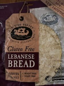 Old Time Bakery Lebanese Bread gluten free