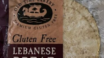 Old Time Bakery gluten free Lebanese bread